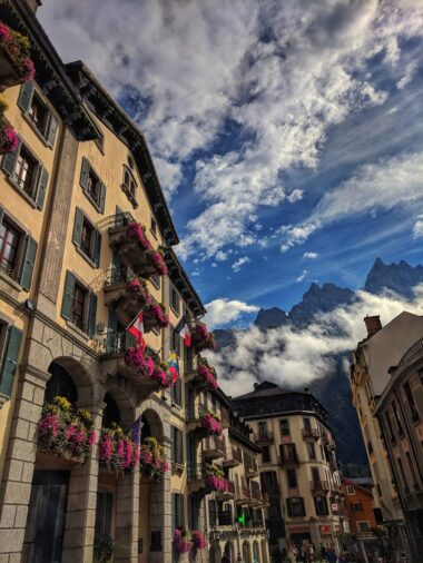 Buildings in Chamonix
