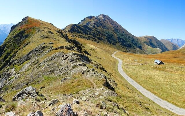 The car free road on the pass of the Col du Sarenne