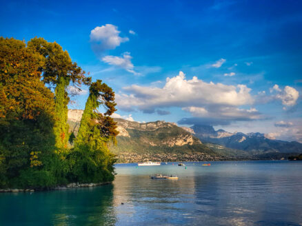 Looking towards the alps with Lake Annecy in the foreground