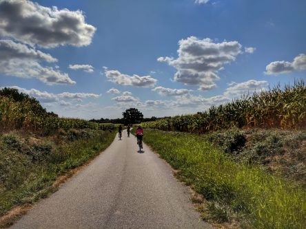 cycle tourists on the Velodyssey cycling trail