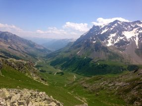 Galibier cycling mountain pass in the French Alps