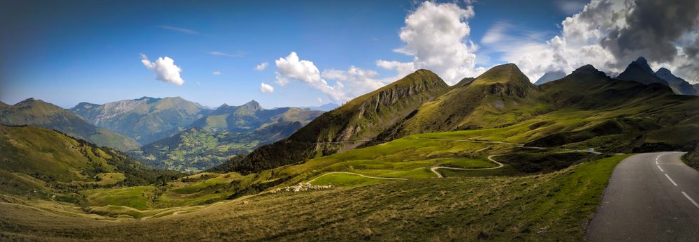 Col d'Aubisque road cycling Panorama