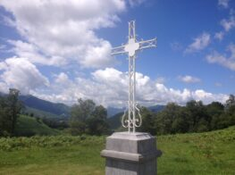 Col de la Croix Blanche monument in the French Pyrenees