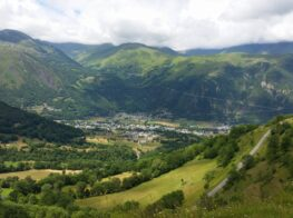 Views of Pla d'adet a famous cycling climb of the French Pyrenees