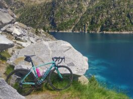 Bianchi Bike resting at Lac de Cap de Long. A lesser known climb of the French Pyrenees