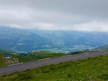Views from the cycling climb of the Col du Tramassel in the French Pyrenees