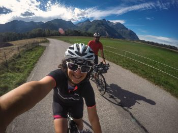 a couple Cycling on French Greenways