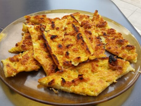 Socca - a flatbread traditionally made with chickpea flour