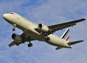 Air France plane coming in to land