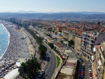 View of the city of Nice and the beach