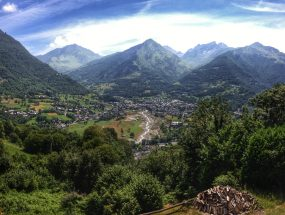 view of the village of Luz Saint Saveur famous for cycling in the Pyrenees
