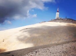 Looking towards the summit of Mont Ventoux