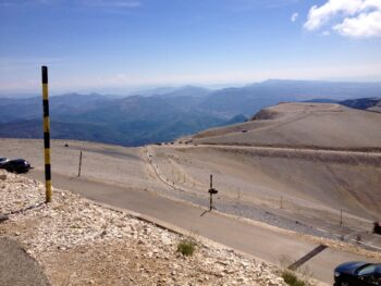 Looking at the road to Mont Ventoux from Bedoin