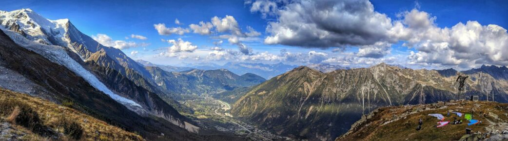 A panorama of the Chamonix Valley