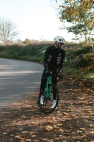 A cyclist in winter kit