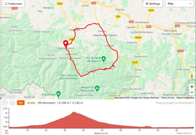 Col du Tourmalet cycling route