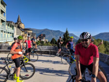 Cycling group in the Pyrenees France